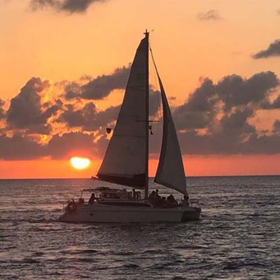 catamaran sunset special 35 ft